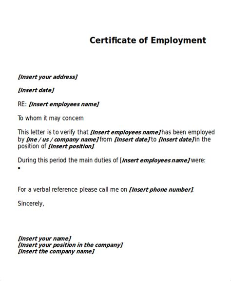 certification letter work work certificate template 18 free word pdf document