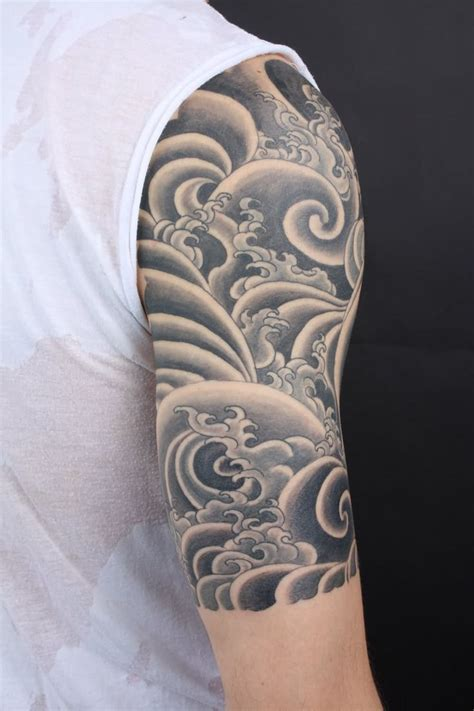 25 best ideas about wave drawing on wave collection of 25 grey ink sunset wave tattoos on upperback