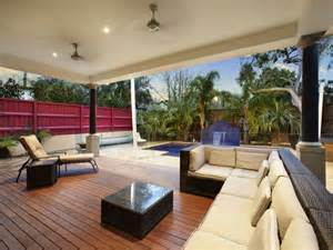 Backyard Cottage Plans Outdoor Living Design With Pool From A Real Australian