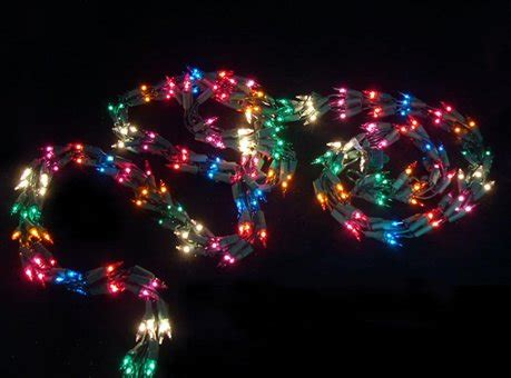 best outdoor battery or solar christmas garland lights 9 light garland with 300 multi color mini lights green wire