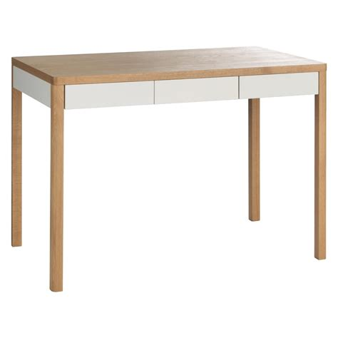 white oak desk albion 3 drawer oak desk buy now at habitat uk