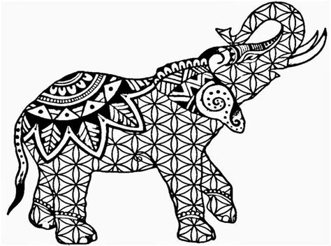 hard coloring pages of elephants coloring pages for adults pdf free download