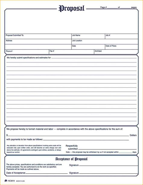 5 General Contractor Bid Form Sumayyalee General Contractor Estimate Template