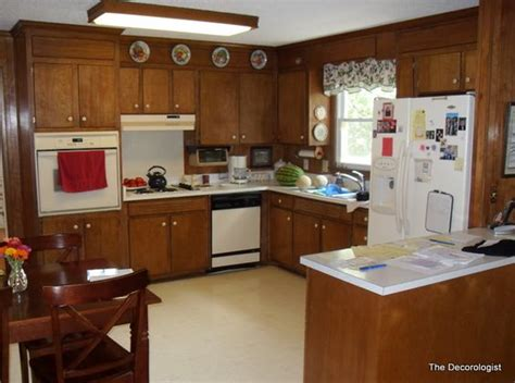 Paint Or Replace Cabinets by Paint Your Dated Wood Paneling Cabinets For An Updated