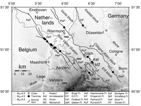 earthquake germany 187 a holocene surface rupture in germany