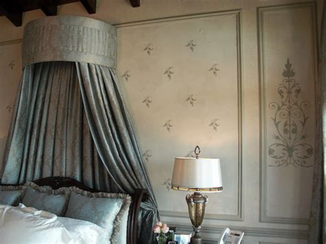 bed canopy and wall