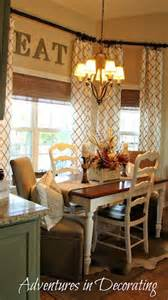 Kitchen Nook Curtains Our New Country Breakfast Area