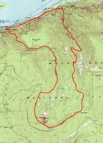 oregon hiking trail maps larch mountain loop via oneonta gorge went hiking