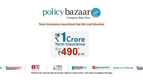 Compare Policy by Compare Term Insurance Plans At Policybazaar For