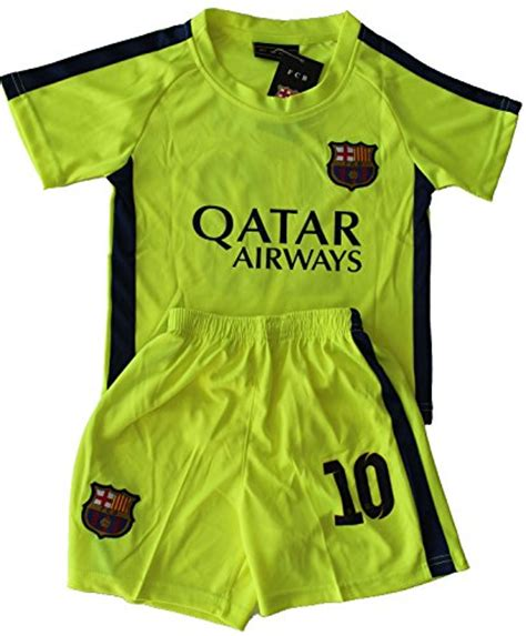 Jersey Sepakbola Barcelona L 10 Messi 2014 2015 fc barcelona third lime green lionel messi 10 football soccer jersey