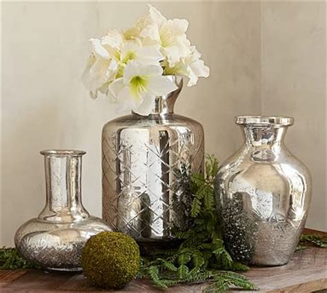 kingsley etched mercury glass vases pottery barn