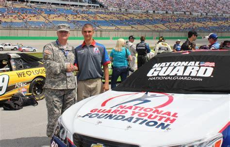 la youth challenge program la national guard ycp cadet honored at nascar race