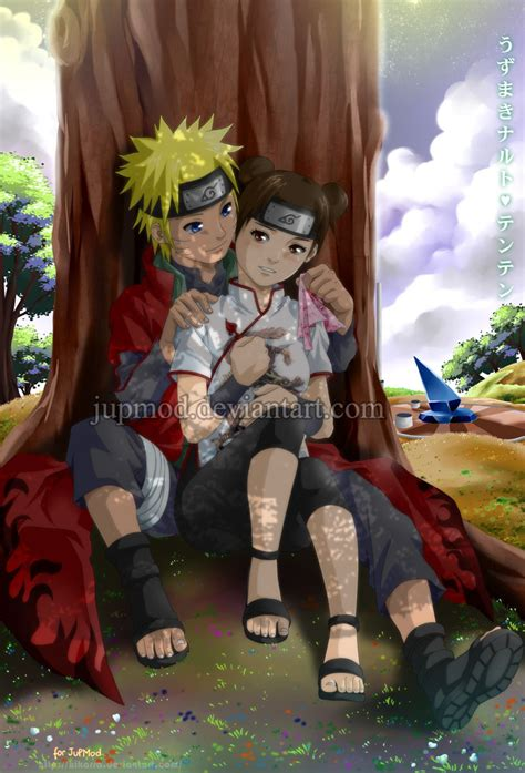 anime couple under a tree naruten relaxing under a tree full version by jupmod on