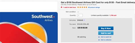 Can You Combine Gift Cards On Paypal - save big on southwest up to 15 off gift cards the current southwest sale