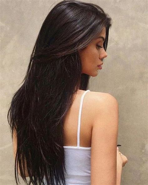 images of hairstyles with darker on top and blond on bottom 15 best collection of black hair long layers