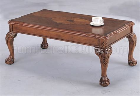 Traditional Coffee Table Brown Traditional Coffee Table With Shell Design Inlays