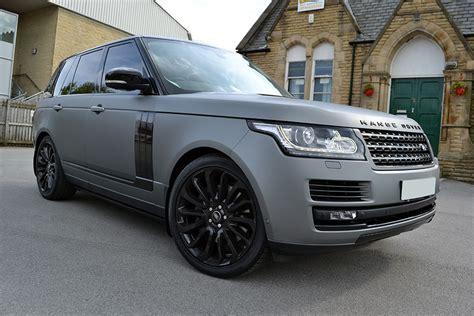 land rover metallic matte grey metallic range rover vogue reforma uk