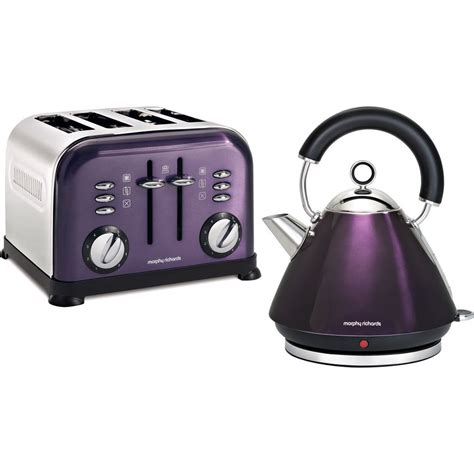 Plum Kettle And Toaster morphy richards kettle and 4 slice toaster accents plum purple ebay