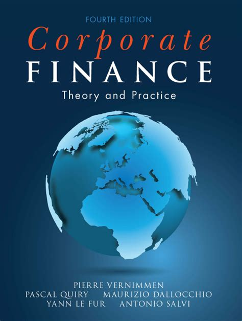 corporate finance theory and practice books corporate finance 4th edition by vernimmen