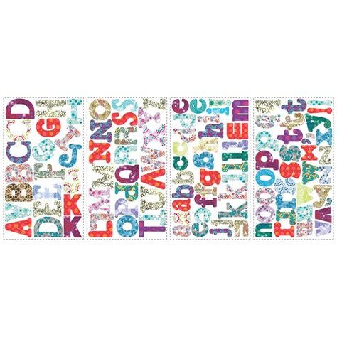 wall stickers alphabet letters boho alphabet wall stickers stickers for wall