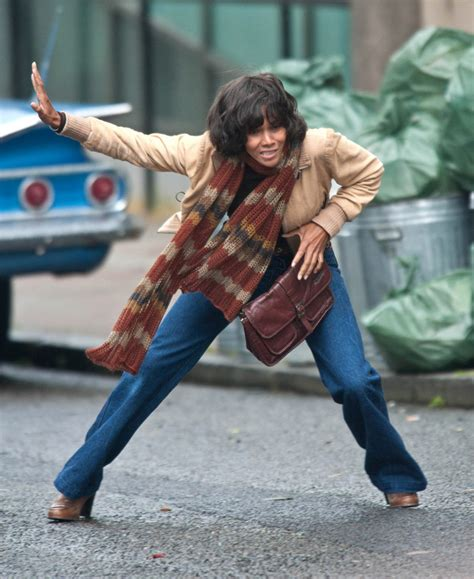 Halle Berry Warms Up by Halle Berry In Halle Berry On Set Zimbio