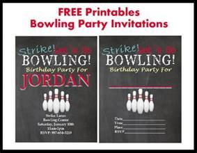free bowling printable invitations printables 4