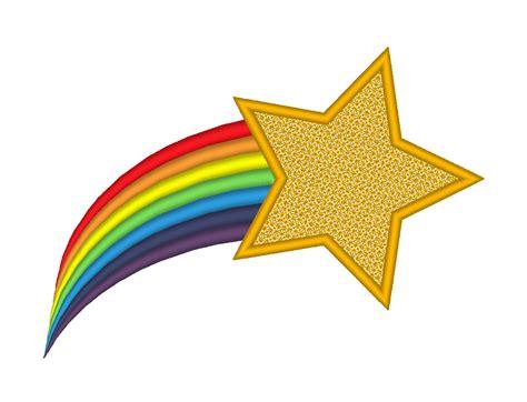Rainbow White Syar I shooting rainbow embroidery machine design from