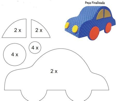 moldes carros en fieltro molde de carrinho em eva 3d atividades jardim colorido