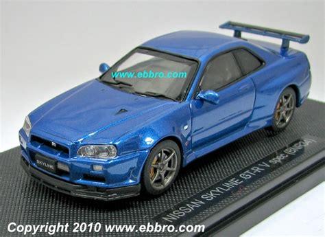 Nissan Skyline Gt R 34 Skala 43 Merk Mtech Limited Edition ebbro 2000 nissan gt r r34 v spec ii metallic blue 44148 in 1 43 scale mdiecast