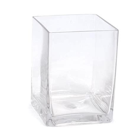 Square Glass Vases by Medium Square Glass Vase