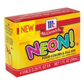 neon food coloring mccormick food coloring assorted neon 4 ct
