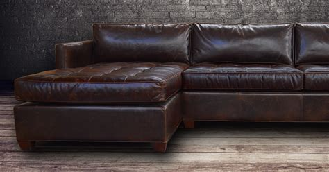 vintage brown leather ottoman vintage leather sectional sofa restoration full grain