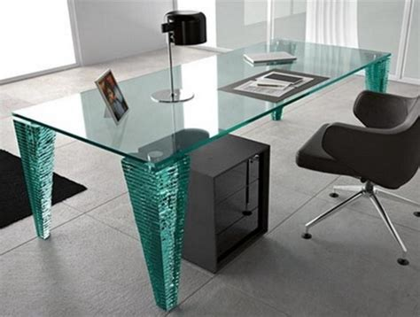 Glass Desk Modern Modern Glass Desk Design Ideas 1821 Desk Design Glass Desks Modern Glass Desks