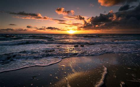 imagenes windows 10 te gusta lo que ves las olas del mar de espuma gran salida del sol fondos de
