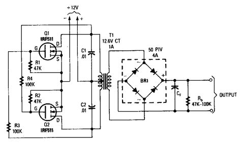 power mosfet inverter circuit diagram electronic circuit