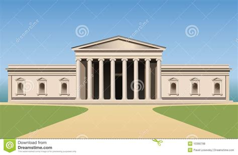 Museum Builders museum building with columns vector royalty free stock photos image 10390798