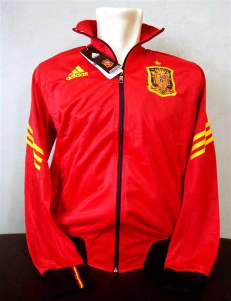 Jaket Sepak Bola Perancis toko olahraga hawaii sports jaket official adidas spain 2012 merah hitam