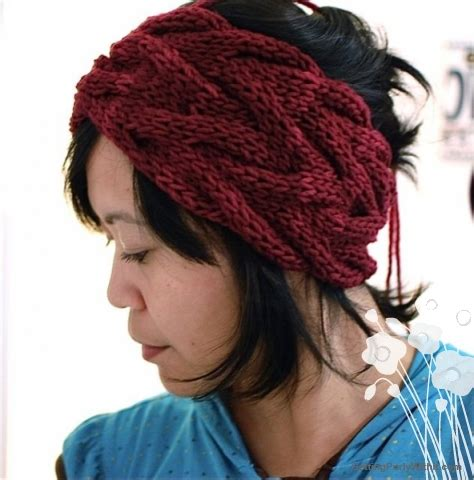 free knitted headband patterns free pattern headband getting purly with it