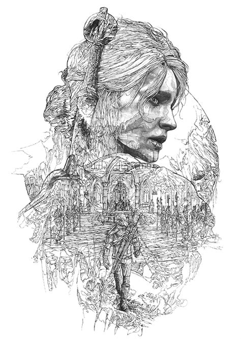 Witcher 3 Sketches by The Witcher 3 Steelbooks On Behance