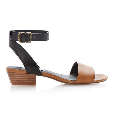 steve madden heel sandals steve madden terrance leather block heel sandals in black