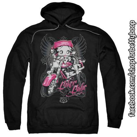 betty boop pink motorcycle biker pull hoodie sweat shirt go to https www