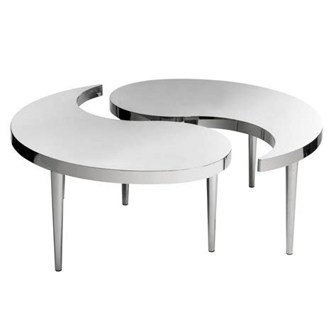 stainless steel coffee table own this bonsoni stainless steel coffee table by