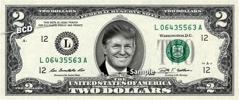 How To Add Money To Ebay Gift Card - donald trump on 2 bill real money cash dollar collectible memorabilia ebay