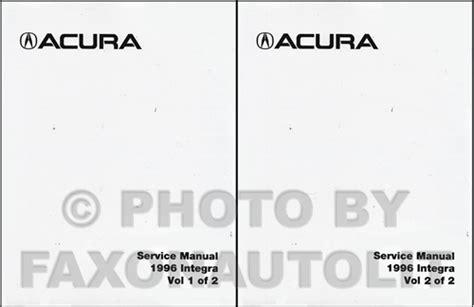 how to download repair manuals 1996 acura integra electronic toll collection 1996 acura integra repair shop manual factory reprint set