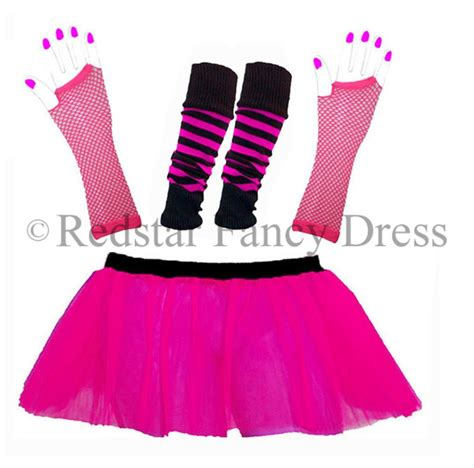 80s Accessories Set For by Neon Tutu Set And Accessories 1980s Skirt Fancy Dress Hen