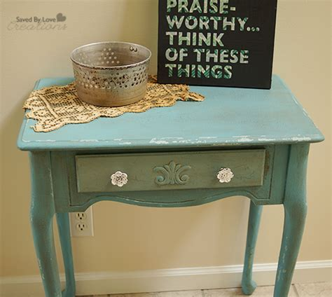 diy chalk paint distressed furniture side table flip distressed with chalk paint