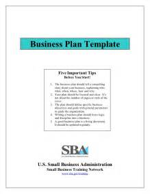 Create A Business Plan Template Small Business Plan Template