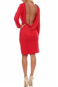 Red Open Back Long Sleeve Maxi » Home Design 2017