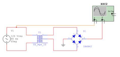 diode bridge in multisim grundlagen ewb v5 12