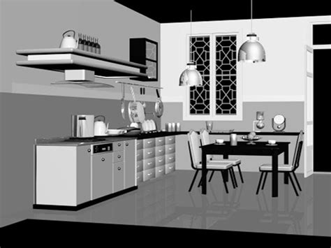 kitchen interior decorating ds  studio max software